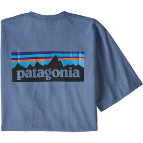Patagonia P-6 Logo Responsibili Tee Men Woolly Blue